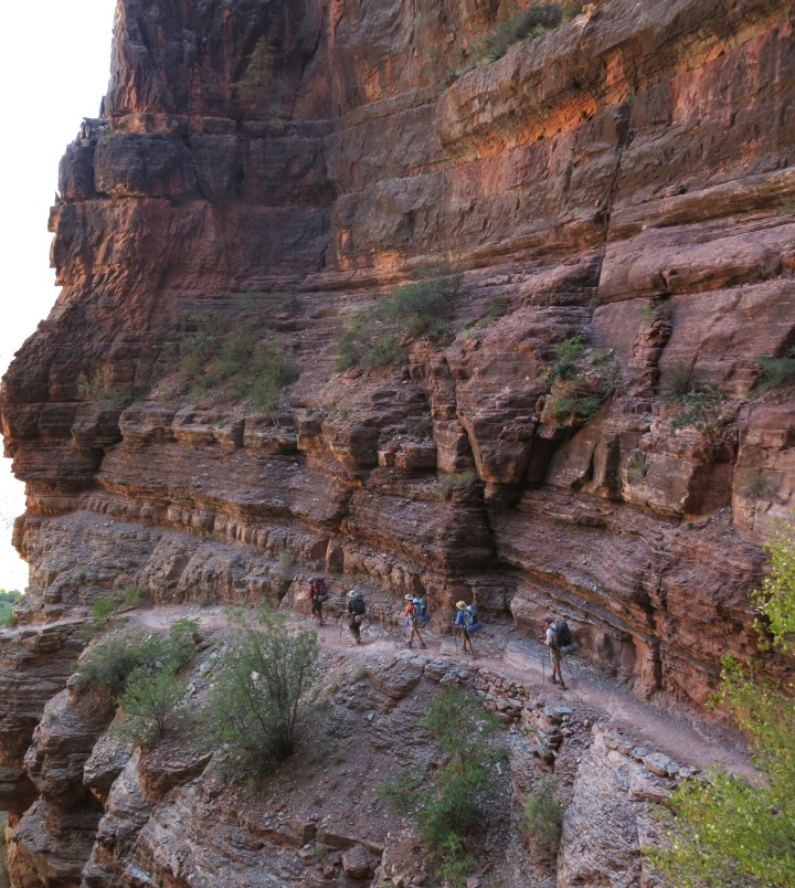 Grand Canyon National Park: North Kaibab Trail in Redwall 0985